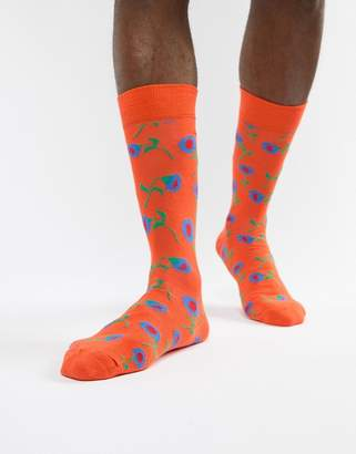 Happy Socks Socks Sunflower Print