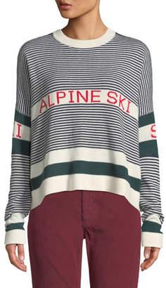 The Great The Alpine Ski Striped Pullover Sweater