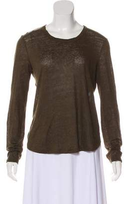 A.L.C. Long Sleeve Linen Top