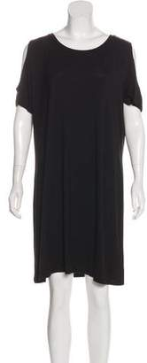 Calvin Klein Cold-Shoulder Knee-Length Dress