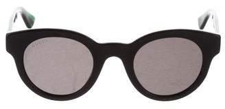 Gucci Tinted Web Sunglasses w/ Tags