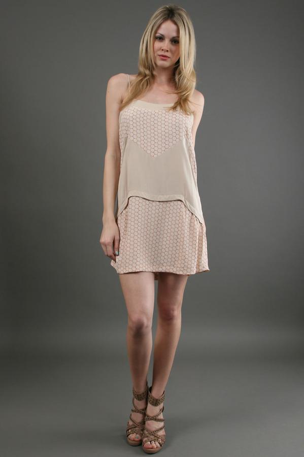 Karen Zambos Roz Dress in Nude