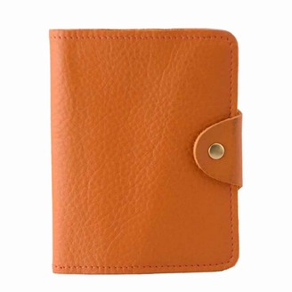 N'damus London Luxury Italian Leather Orange Passport Cover