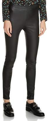 Maje Smarto Leather Leggings