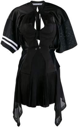 81f6b2f76e4 Alexander Wang multipanel jersey mini flare dress