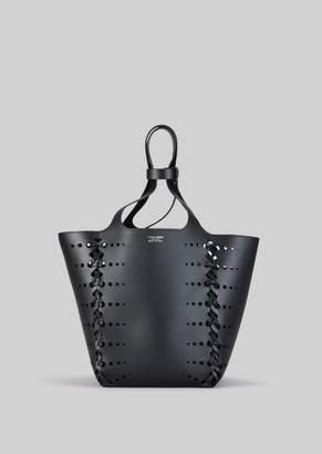 Giorgio Armani Tote Bag In Vegetable Tanned Calfskin