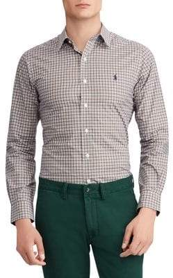 Polo Ralph Lauren Slim-Fit Plaid Poplin Shirt