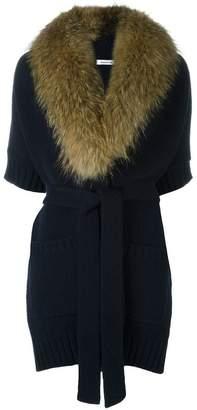 P.A.R.O.S.H. marmot fur collar cardi-coat