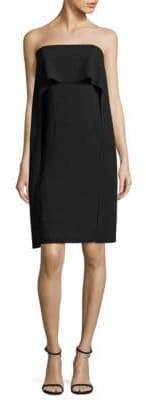 Trina Turk Genius Strapless Popover Cape Dress