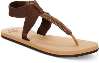 Reef Cushion Moon T-Strap Flat Sandals Women's Shoes $36 thestylecure.com