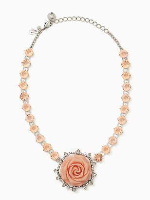 Kate Spade Artisanal rose collar necklace