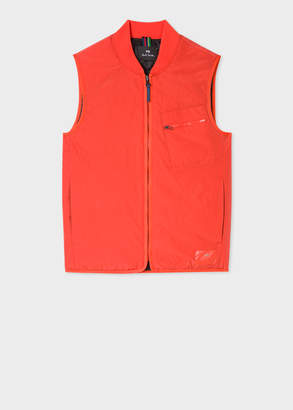 Paul Smith Men's Red Quilted 2-In-1 Gilet Liner
