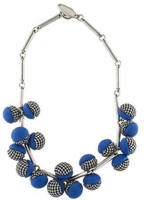Lela Rose Gingham Bauble Necklace