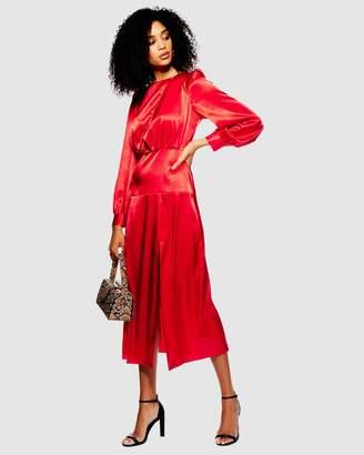 Topshop Cut-Out Midi Dress