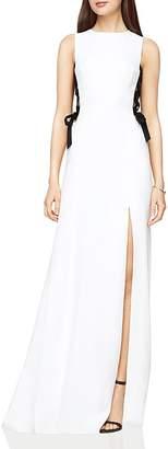 BCBGMAXAZRIA Lace-Up Gown $398 thestylecure.com