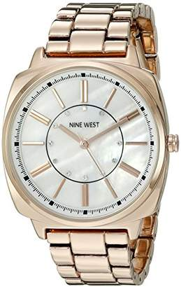 Nine West Women's NW/1734WMRG Swarovski Crystal Accented -Tone Bracelet Watch