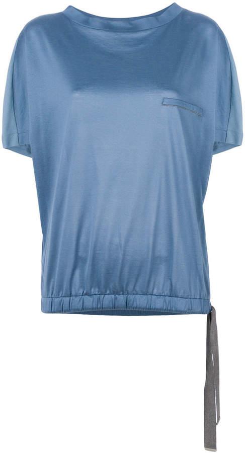 Fabiana Filippi drawstring hem T-shirt