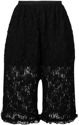 MM6 MAISON MARGIELA floral lace shorts