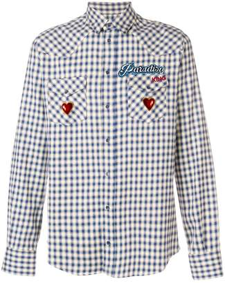 Dolce & Gabbana Paradiso embroidered checked shirt