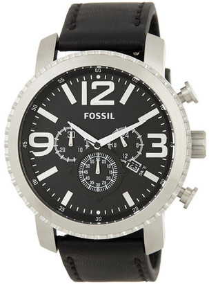 Fossil Men&s Leather Strap Watch $145 thestylecure.com