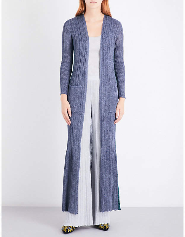 Missoni Metallic-knit maxi cardigan