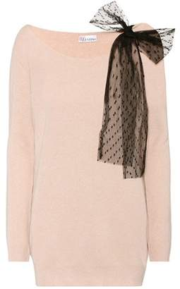 RED Valentino Wool, angora and cashmere blend sweater