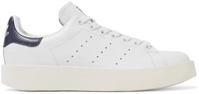 adidasadidas Originals - Stan Smith Leather Platform Sneakers - White
