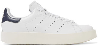 adidas Originals - Stan Smith Leather Platform Sneakers - White $110 thestylecure.com