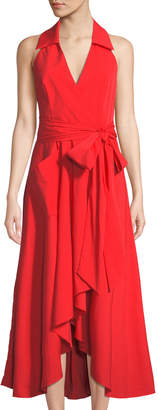 Milly Kate Halter Midi Dress, Red
