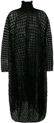 Jil Sander checkerboard sheer dress