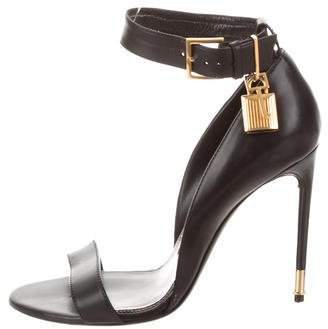 Tom Ford Leather Padlock Sandals