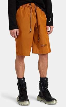 A-Cold-Wall* Men's Logo Tech-Twill Drawstring Shorts - Gold