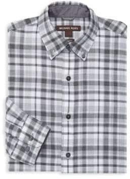 Michael Kors Plaid Cotton Dress Shirt