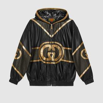 Gucci Dapper Dan hooded bomber