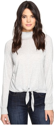 Lanston Front Tie Turtleneck Top $107 thestylecure.com