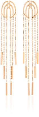 Luce Melis Goral Luna 14K Gold Diamond Earrings