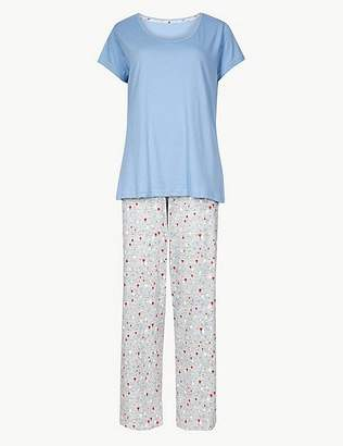 Marks and Spencer Pure Cotton Short Sleeve Pyjama Set