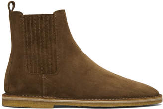 Saint Laurent Brown Suede Nino Chelsea Boots