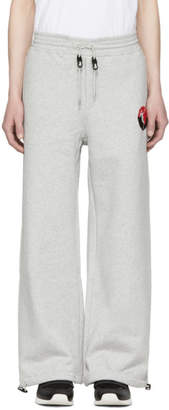 Alexander McQueen Grey Wide-Leg Skeleton Badge Lounge Pants