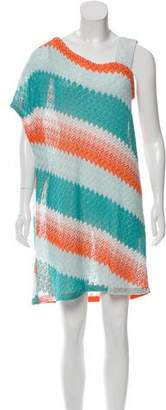 Missoni One-Shoulder Swimsuit Cover-Up