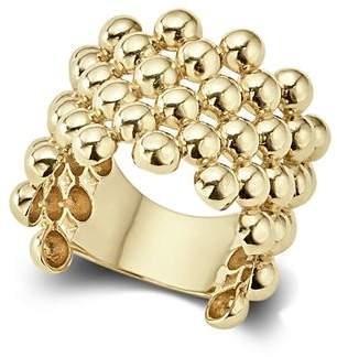 Lagos Caviar Gold Collection 18K Gold Wide Beaded Ring