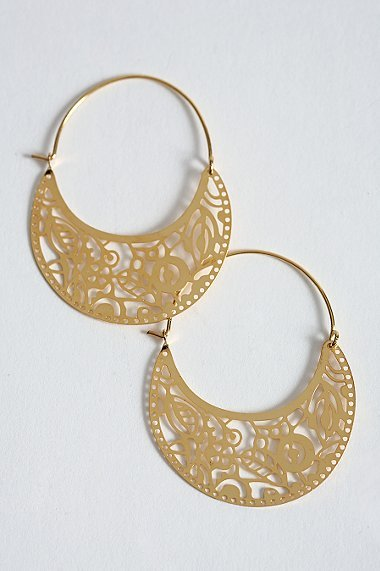 Urban Outfitters Laser Cut Nature Hoops