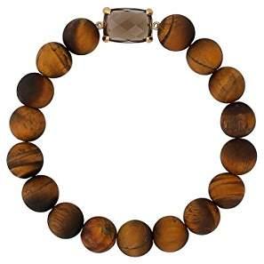 Chan Luu Matte Tiger's Eye Semi Precious Stone Stretch Bracelet