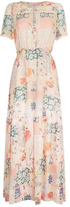 Claudie Pierlot Patchwork Midi Dress