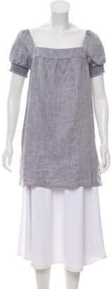 Reformation Silk Short Sleeve Tunic