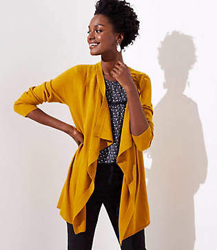 LOFT Draped Open Cardigan
