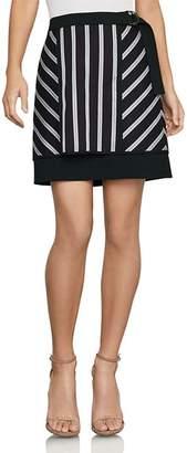 ec460f06cc BCBGMAXAZRIA Striped Mixed-Media Mini Skirt