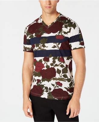 American Rag Men's Striped Floral T-Shirt