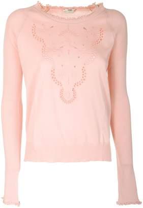 Fendi Tropical Breeze Lace Pullover