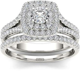 MODERN BRIDE 1 CT. T.W. Diamond 10K White Gold Bridal Ring Set
